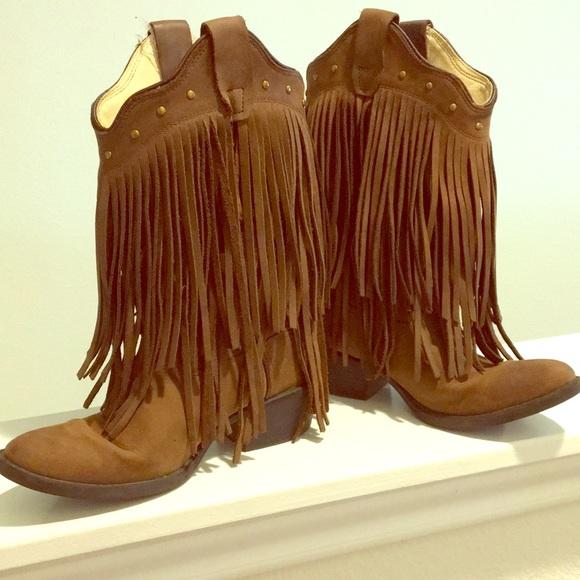 girls fringe cowboy boots